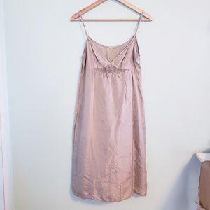 Matta Beige Silk Slip Dress